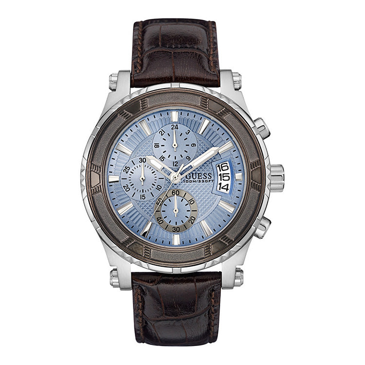 Pinnacle Chronograph Blue Dial Stainless Steel Men's Watch