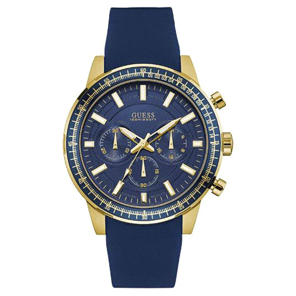 Fuel Multi-Function Blue Dial Gold-Tone Case Men's Watch