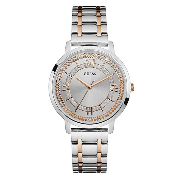 Montauk Silver Dial Two Tone Stainless Steel Ladies Watch