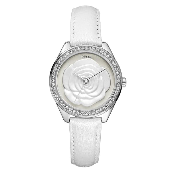 Rosette Rose-motif Dial Ladies Watch