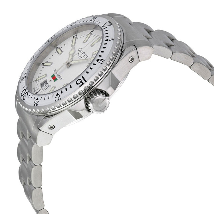Dive White Dial Stainless Steel Men's Watch