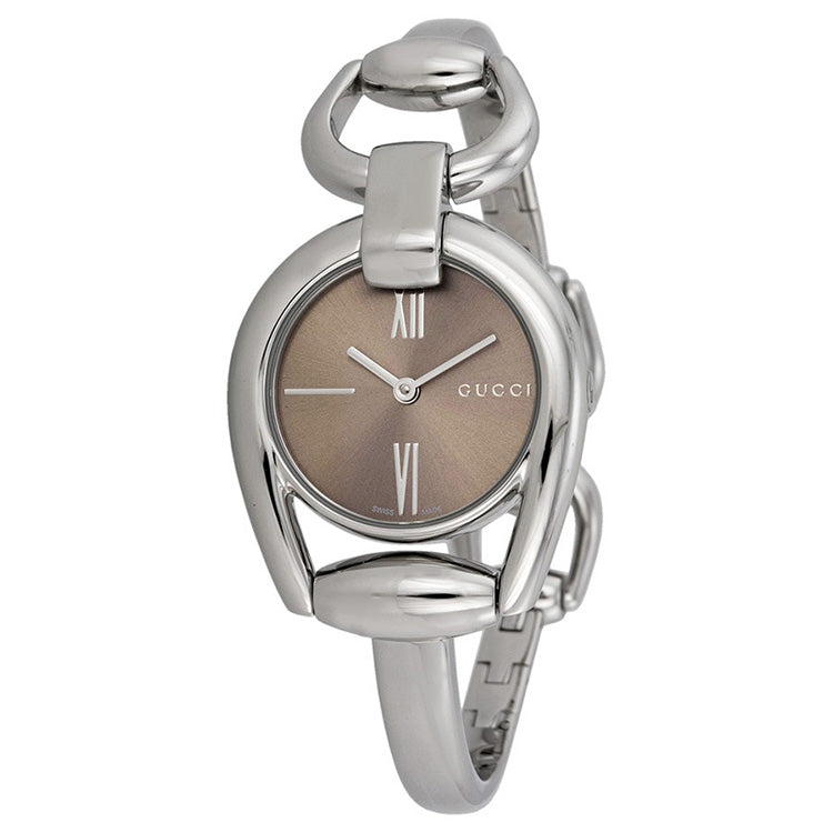 Horsebit Collection Brown Dial Stainless Steel Ladies Watch