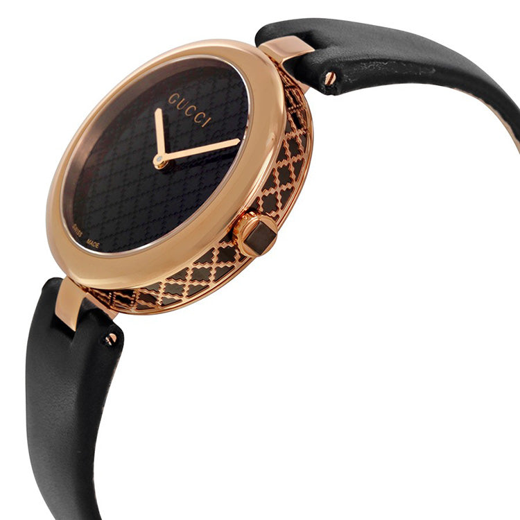 Diamatissima Black Lacquered Dial Ladies Watch