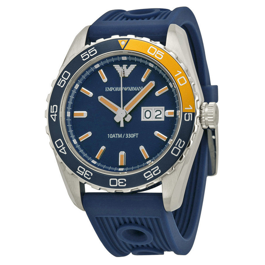 Sportivo Navy Dial Navy Silicone Strap Men's Watch