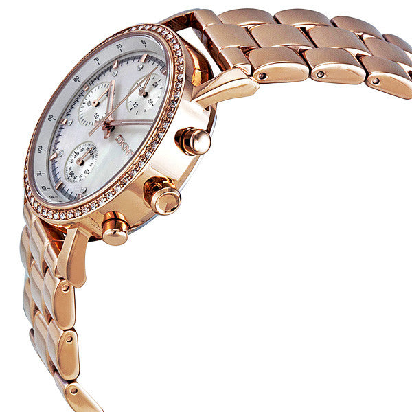 Chronograph Mother of Pearl Rose Gold-tone Ladies Watch