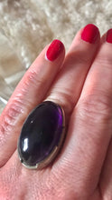 Load image into Gallery viewer, Cabochon Amethyst Sterling silver ring