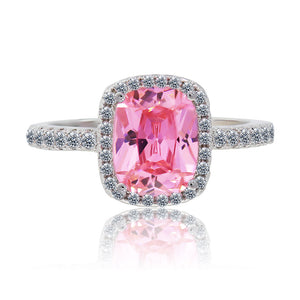 Pink CZ crystal ring
