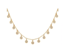 Load image into Gallery viewer, Pave Disc Delicate Necklace in Gold