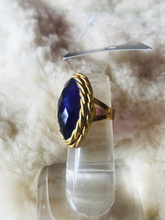 Load image into Gallery viewer, Amethyst faceted stone ring