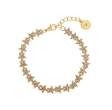 Load image into Gallery viewer, Tennis Crystal Star Bracelet in Gold