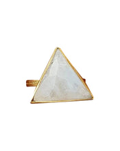 Load image into Gallery viewer, Large Triangle Rainbow Moonstone