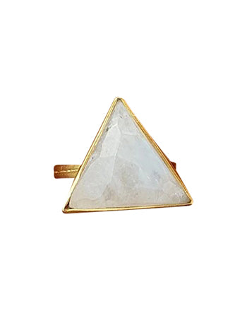 Large Triangle Rainbow Moonstone