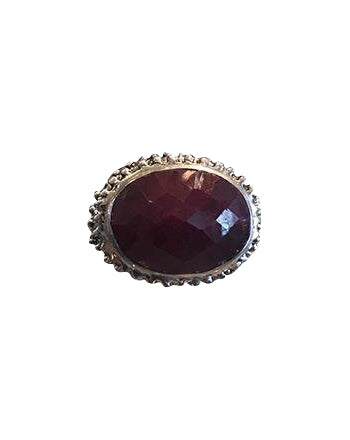 Statement rough cut ruby ring