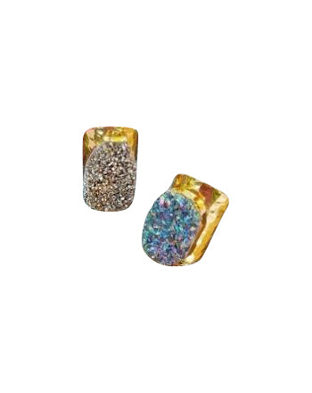 Metallic Druzy Gold Statement Rings