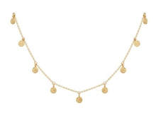 Load image into Gallery viewer, Hammered Disc Delicate Necklace in Gold