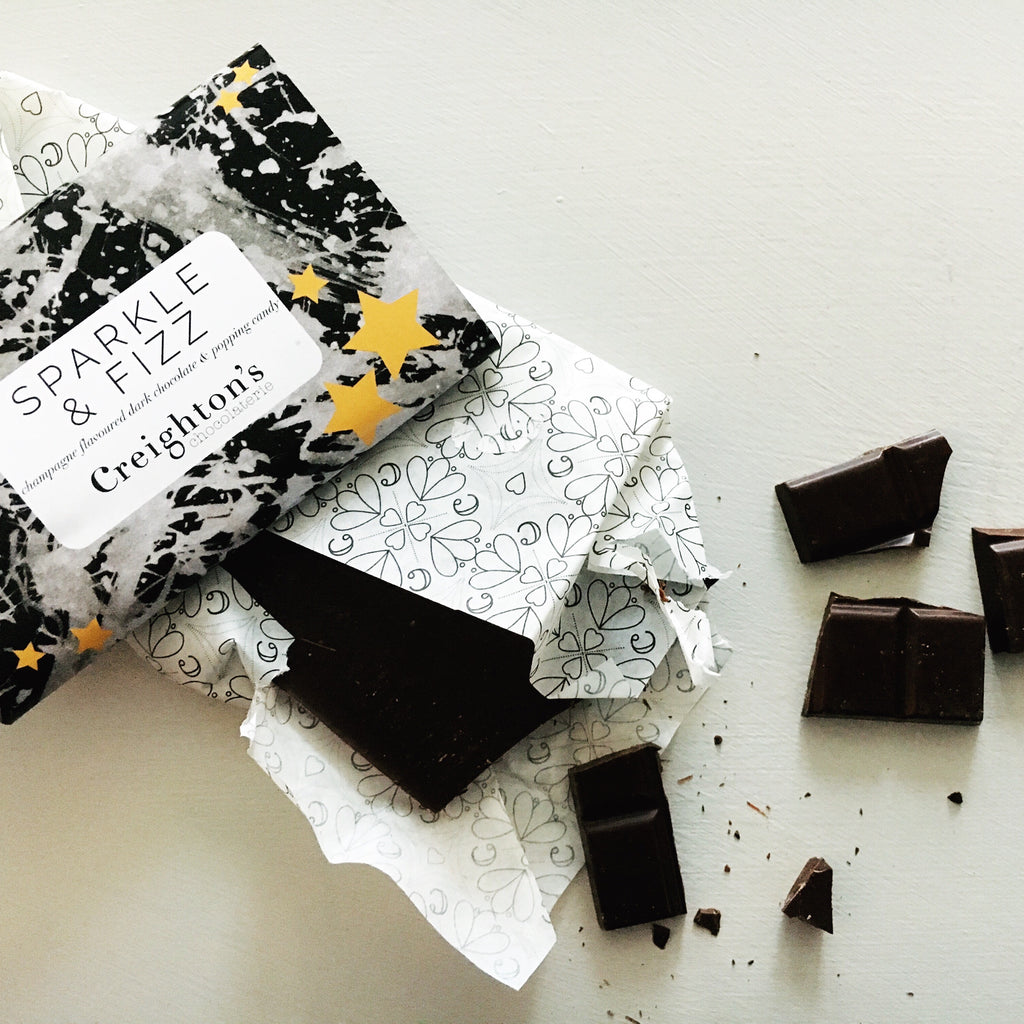 creigtons champagne and popping candy chocolate from treat box advent