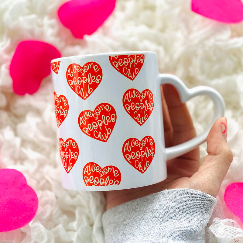 Awesome People's Club Mug Heart Handle