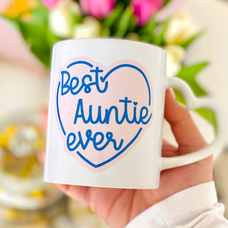 Best Auntie Ever Mug Heart Handle