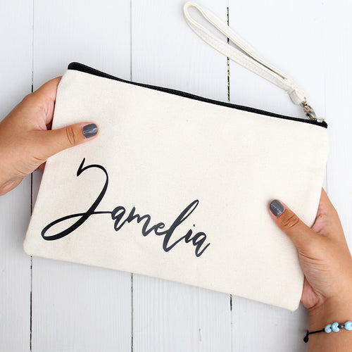 Make-up Bag/Pouch with Personalised Name