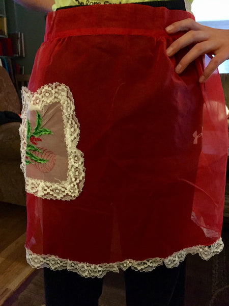 Vintage Holiday Hostess Apron