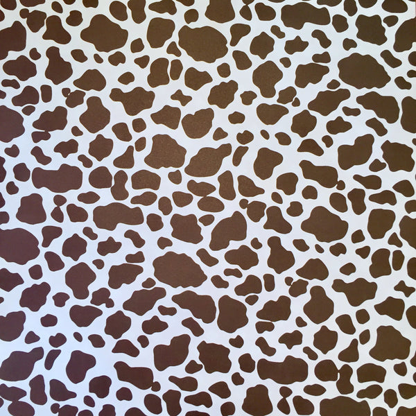 Scrapbook Paper 12 x 12 Brown Cowprint