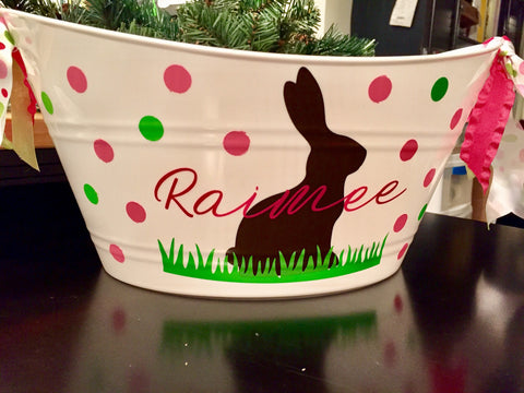 Personalized Baskets - Plastic Tubs with Handles