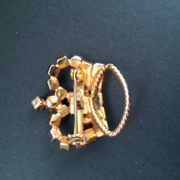 Vintage Crown Brooch