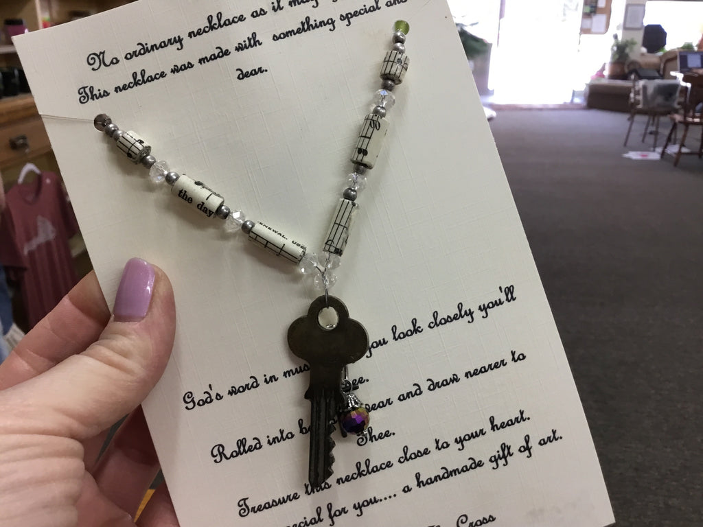 Hymnal necklace