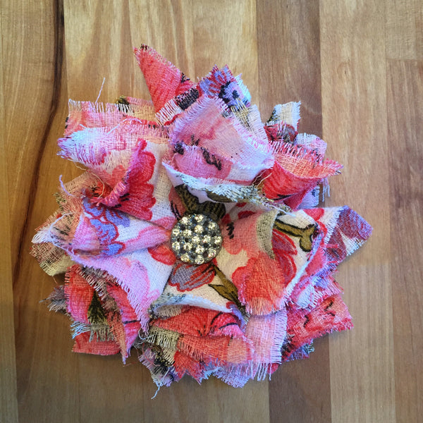 Vintage Fabric Flowers Craft Ready