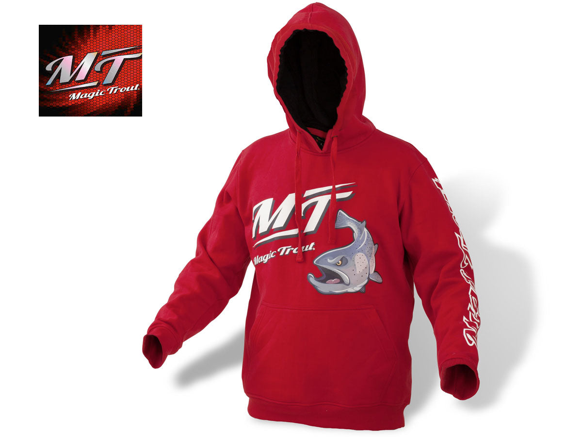 Magic Trout Hoody red - NYHED 2019
