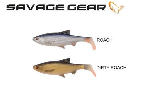 Savage Gear 3D LB River Roach Paddletail - 2 pak