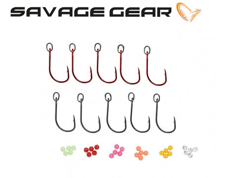 Savage Gear S1 Single Hook kit til gennemløbsblink - 10 stk.