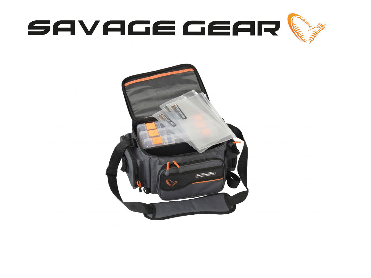 Savage Gear System Box Bag m/ 3 grejbokse & PP bags
