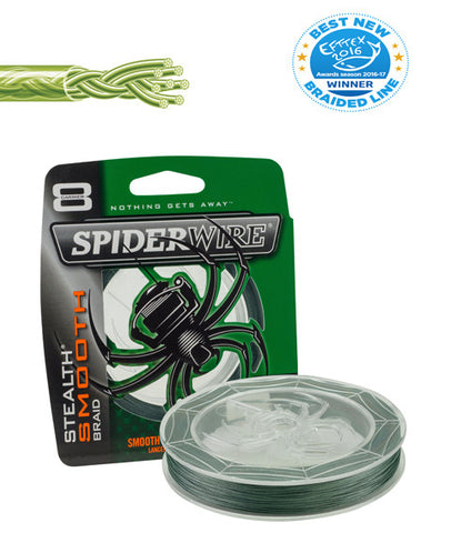 Spiderwire Stealth Smooth 8 Green, 150 meter - NYHED 2017