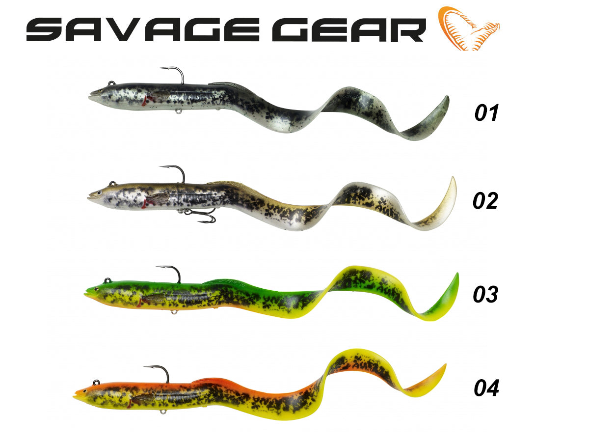 Savage Gear 4D Real Eel - Ready To Fish - NYHED 2020