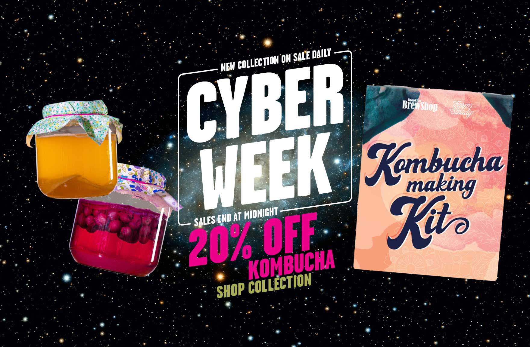 Cyber Week Sale 2019: 20% Off All Kombucha Kits & Accessories