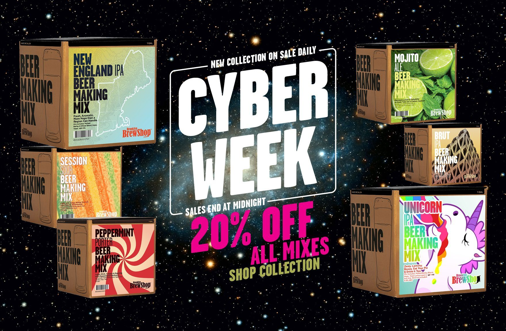 Cyber Week Sale 2019: 20% Off All Beer Making Mixes