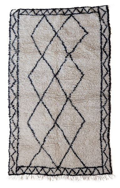 Beni Ourain rug (4.6 x 7.3 ft)
