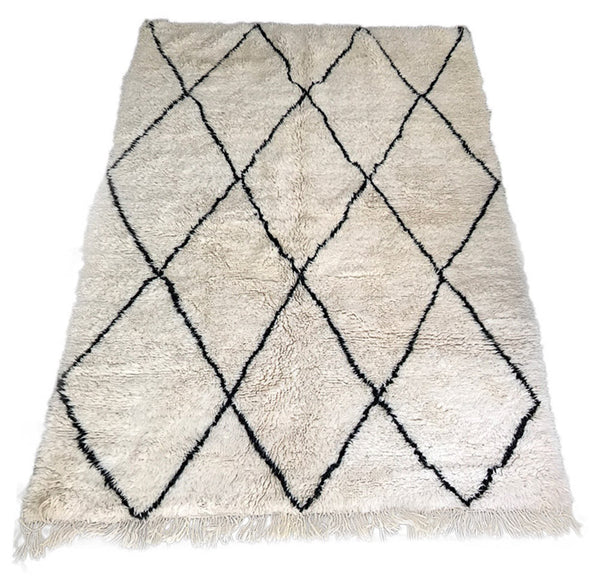 Beni Ourain rug (6.2 x 8.3 ft)