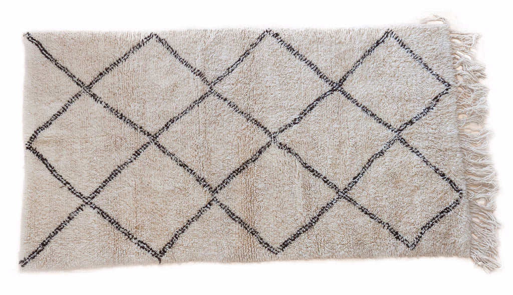 Beni Ourain rug (4.7 x 7.11 ft)