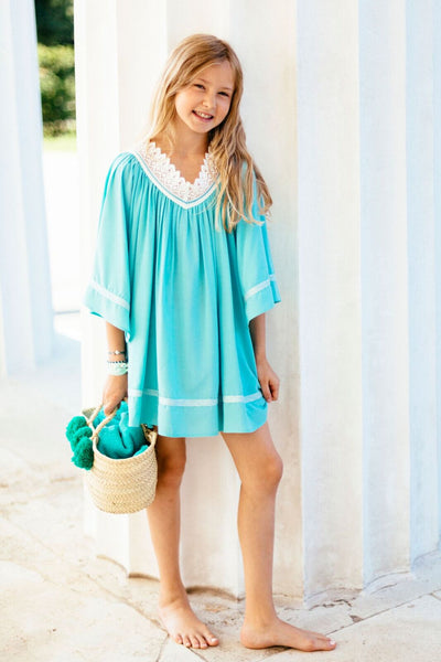 "LIGHT SUMMER TUNIC ""ANGEL KIDS"" TURQUOISE"