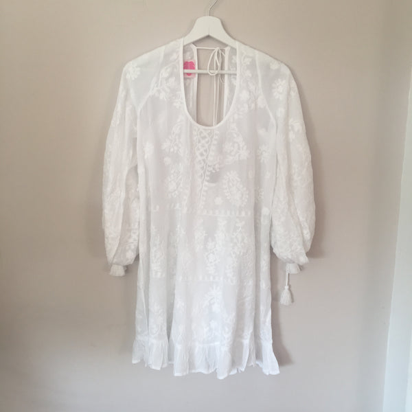 "TUNIC ""EMMA"" WHITE WITH WHITE EMBROIDERY"