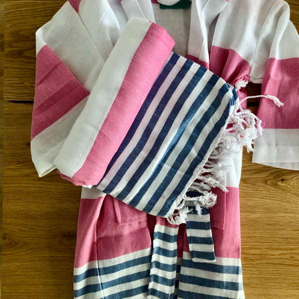 HAMAM BATHROBE PINK / BLUE