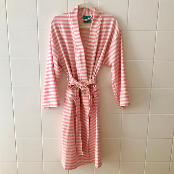 HAMAM BATHROBE PINK / CREAM