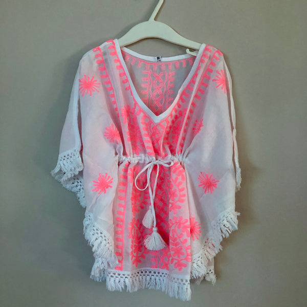 "WHITE-PINK KIDS TUNIC ""OCEAN"""