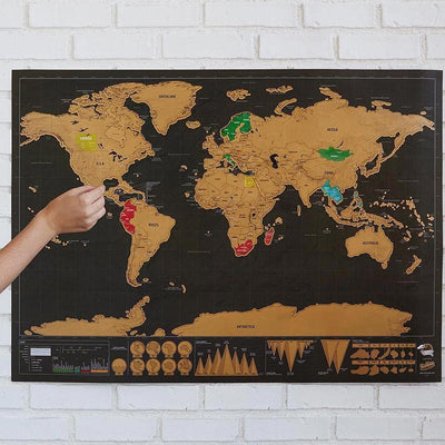 Why a Travel Scratch Map is a Great Gifting Idea