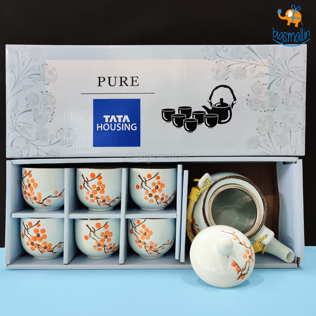 Teapot With Cup Set - Tata Housing