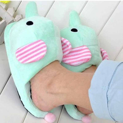 Elephant Plush Slippers