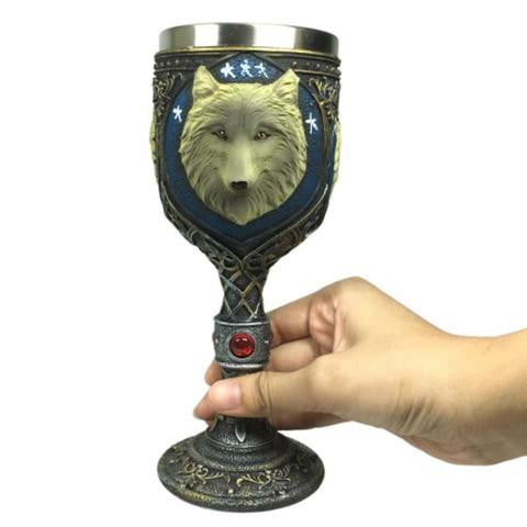 Wolf Wine Glass