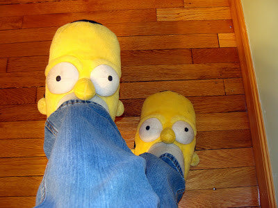 Plush Simpson Slippers